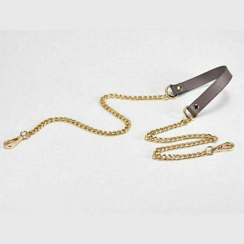 "110cm//43/"" Womens Leather Chain Strap Shoulder Cross Body Bag Handbag Purse Belt"