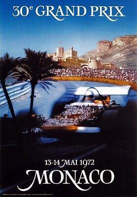 AV37 Vintage 1937 Monaco Grand Prix Classic Motor Racing Poster A1 A2 A3