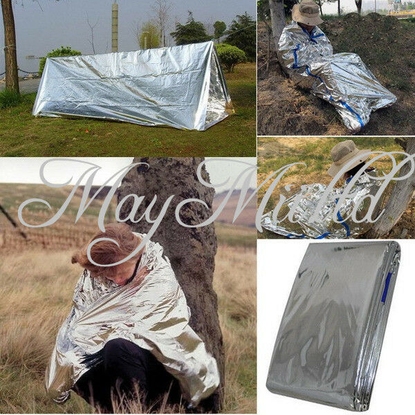 Folding Outdoor Emergency Tent/Blanket/Sleeping Bag Survival Camping Shelter E