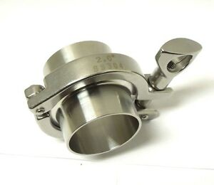 SANITARY ASSEMBLY 2″ FERRULE GASKET CLAMP 304 STAINLESS TRI CLOVER <SAN02KIT