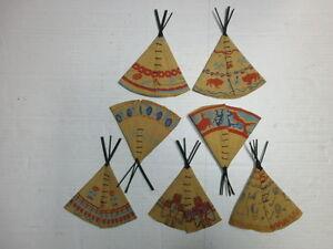Convolute-7-Old-Indianerzelte-for-Merten-Figures-Indian-Wild-West-to-4cm