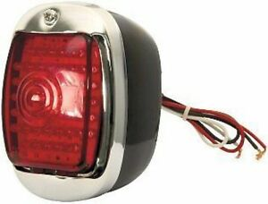 1940 ~1953 Chevy Pickup Truck Tail Lamp Assembly Left Black//Chrome Housing LP18