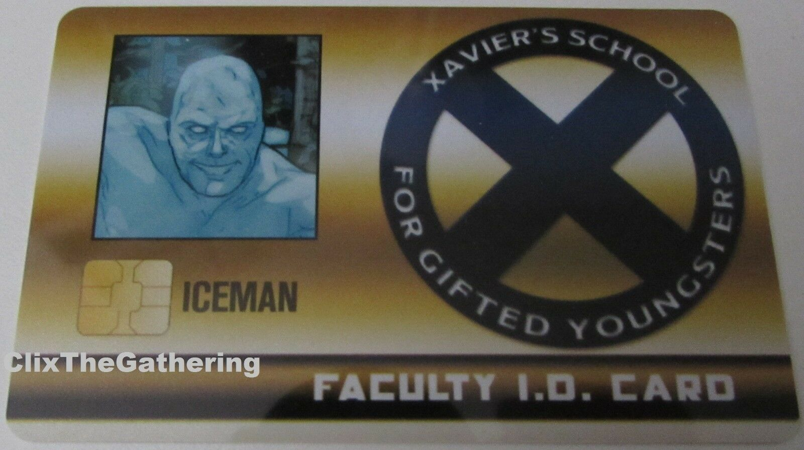 ICEMAN FACULTY STUDENT ID CARD XID-019 X-Men Xavier's School Marvel HeroClix
