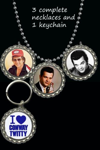 Conway twitty 3 piece necklace set 1 keychain lot great gift country rock fan