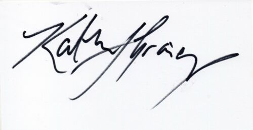 SPORT KATHERINE GRAINGER Signed Large White Card ROWING