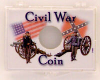 Civil War Soldiers - Coin 2x3 Snap Lock Coin Holder, 3 Pack