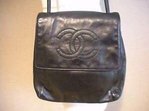 Image Is Loading Chanel Handbag With Leather Shoulder Strap