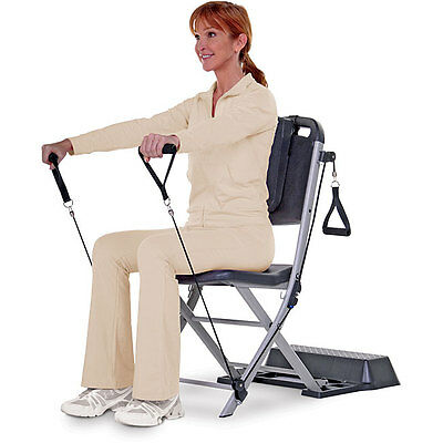 Resistance Chair Exercise System Rehabilitation Home Gym Fitness Workout w/ DVD