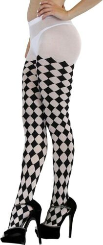 ToBeInStyle Women/'s Harlequin Designed Full Footed Tights