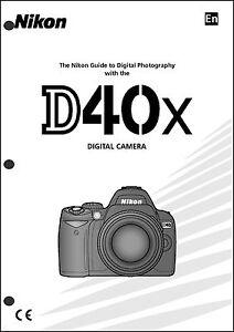nikon d40x user manual guide instruction operator manual ebay rh ebay com nikon d40 owners manual nikon d40 instruction manual pdf