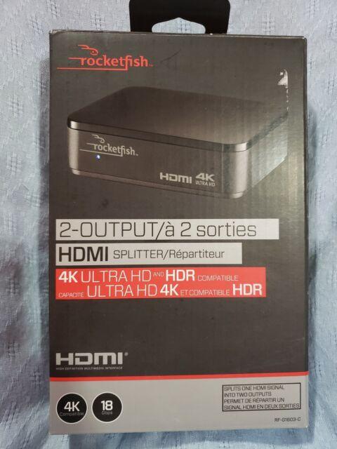 Rocketfish 3 Port 4K HDMI Splitter Port Hub Box 1080P For HDTV HD