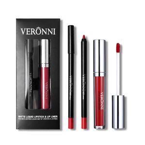Women-Beauty-Waterproof-Lasting-Liquid-Lipstick-Lip-Gloss-lip-liner-Makeup-BG4F