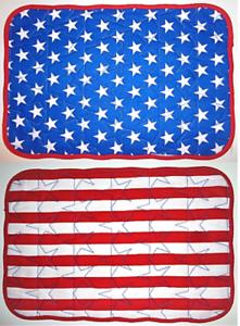 Amerika USA Wende Tischset Platzdeckchen Untersetzer Set rechteckig Stoff