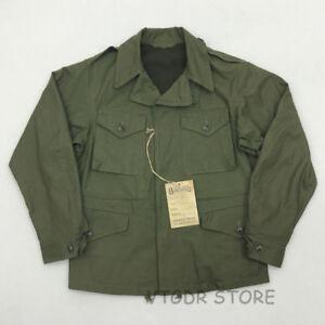 Bob-Dong-Reproduction-US-Army-M-43-Field-Jacket-Fall-Men-039-s-Military-Uniform-Coat