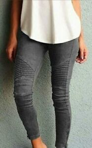 Cintura-Alta-Informales-Cargo-Pantalones-Ajustados-Elastizados-Damas-Pantalon-largo-nuevo-para-mujer