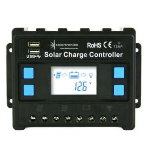 solartronics 20A Laderegler 12V/24V blau Photovoltaik Solarladeregler Solar PV