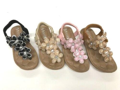 Girls Toddler Flower Girl Rhinestone Summer Wedding Sandals size 5-10
