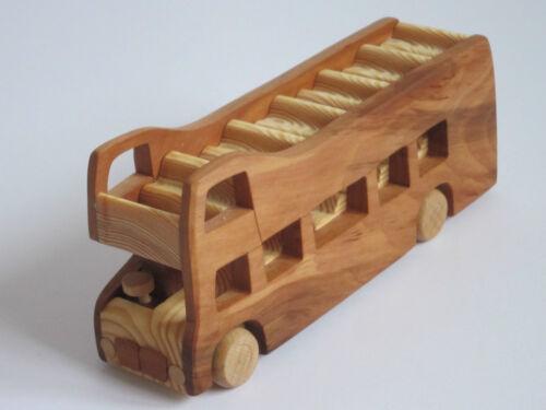 BUS londinese autobus Londra Bus DOPPELDECKER sigtseeing modellbus LEGNO MOLTO RARO