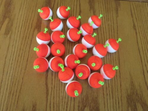 """Red Wh Foam SNAP ON FLOAT 24  1.50/"""" FISHING BOBBERS Round Weighted Floats Flo"""