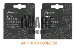 Photo Corners 400 Stickers Self Adhesive Frame Craft Transparent Journal Album