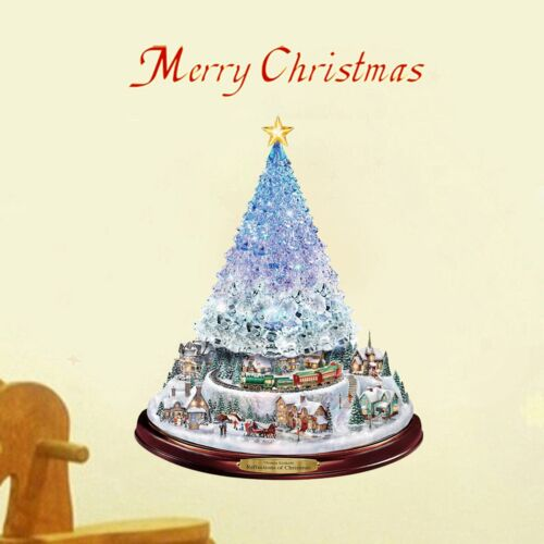 Details about  /Wall Stickers For Living Room Home Decor Accessories Christmas Tree Rotating Scu