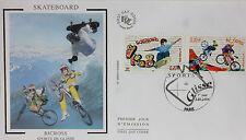 ENVELOPPE PREMIER JOUR - 9 x 16,5 cm - ANNEE 2004 - SKATEBOARD BICROSS