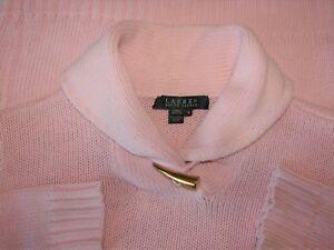 Lauren-Ralph-Lauren-Size-M-Long-Sleeve-Pink-Cotton-Sweater-Bust-36-38-034