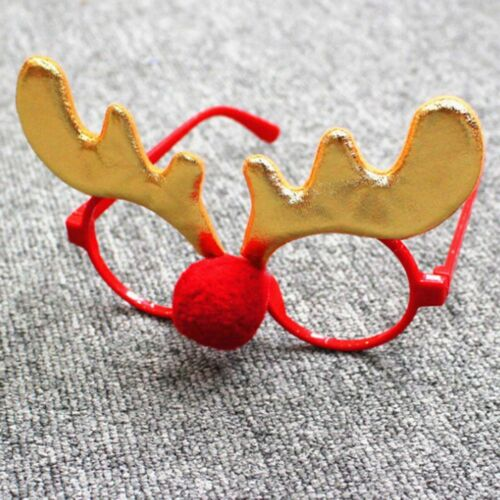 Christmas Glasses Frame Cute Kids Adult Ornaments Decor Evening Party Toys Best