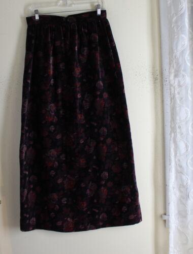 Gunne Sax Vintage Rose 70s Boho Velveteen Long Ful