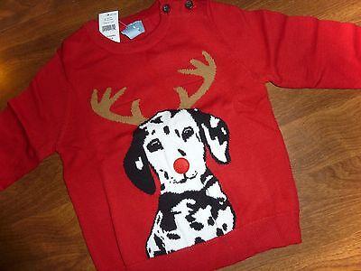 RED BABY GAP *INTARSIA CHRISTMAS SWEATER* DOG//REINDEER INFANT SIZES U-PICK