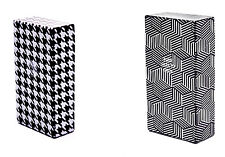 2 x Zigarettenetui Zigarettenbox 100mm Zigaretten s/w Kunststoff Pepita + Cubes