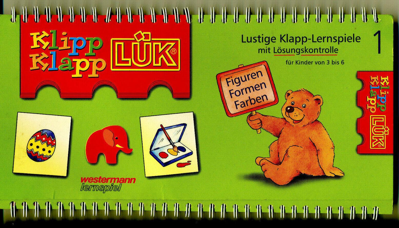 Klipp Klapp LÜK Westermann Lernspiel Figuren Formen Farben für Kinder 3-6 Jahre - Friedrich Dandl