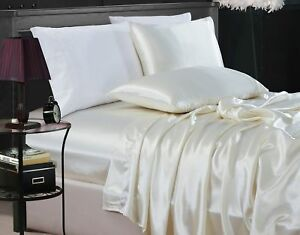 Chezmoi-Collection-4-Piece-Solid-Ivory-Bridal-Satin-Sheet-Set