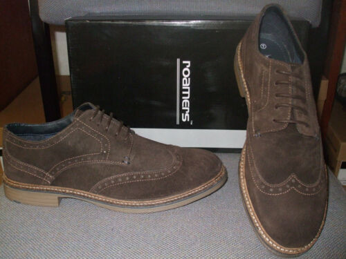MENS ROAMER 5 EYELET DARK BROWN SUEDE  LEATHER     BROGUE SHOES SIZES 7 8