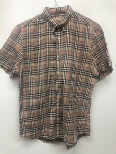 Burberry Brit Mens Signature  Button Down Shirt L