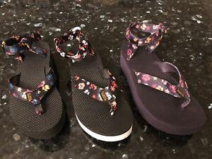 bb4ce36436ba New Womens TEVA Flatform Sandal Floral US 7 UK 5 EU 38 JAPAN 24 ...