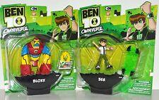 Bandai Cartoon Network Ben 10 Ben and Bloxx Figure Lot of 2