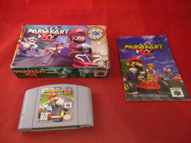Mario Kart 64 (Nintendo 64, 1996) N64 COMPLETE w/ Box manual game WORKS! #T1