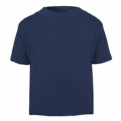 PLAIN T SHIRTS FOR BABY AND TODDLER KIDSWEAR 0-6 YEARS MANY COLOURS 100% COTTON
