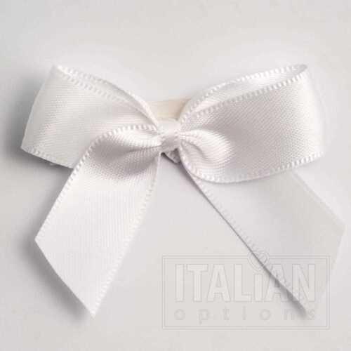 5cm Satin Ribbon Bow- Self Adhesive -12 Pack-Pre-Tied Bows-16mm Ribbon