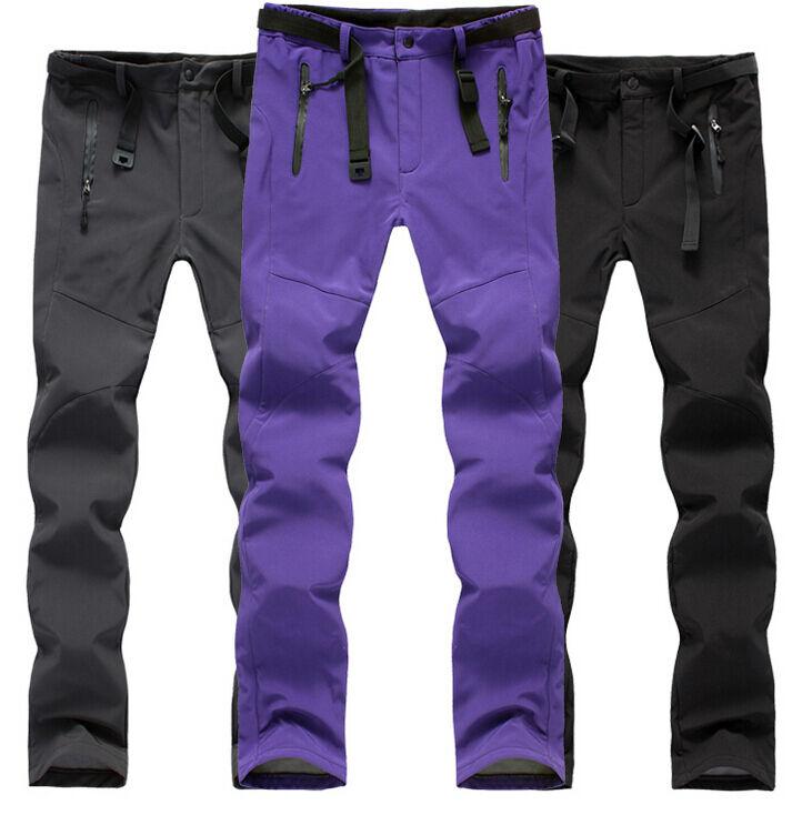 Womens Windproof Waterproof Outdoor Skiing Climbing fleece Trousers Ski Pants