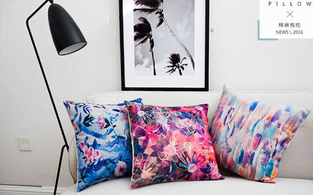 Multi-color Magic Sky Tattoo print cotton&linen Sofa cushion case/pillow cover