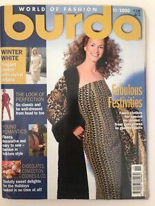 Burda-Sewing-Patterns-Magazine-11-2000-Christmas-Fashion-Decorations-Childrens