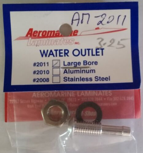 Aeromarine Aluminum Water Outlet Large Bore AM-2011 Remote Control Model Boats