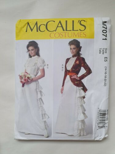 McCalls M7071 PATTERN Sizes E5 14-22 Misses jacket blouse and skirt