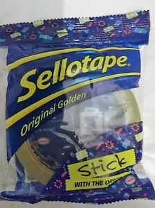 Pack of 13 Sellotape 24mmx66m Golden Tape