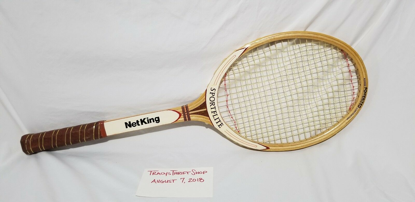 NET KING SIGNATURE WOODEN VINTAGE Antique TENNIS RACQUET NEW PERFECT COND FAST