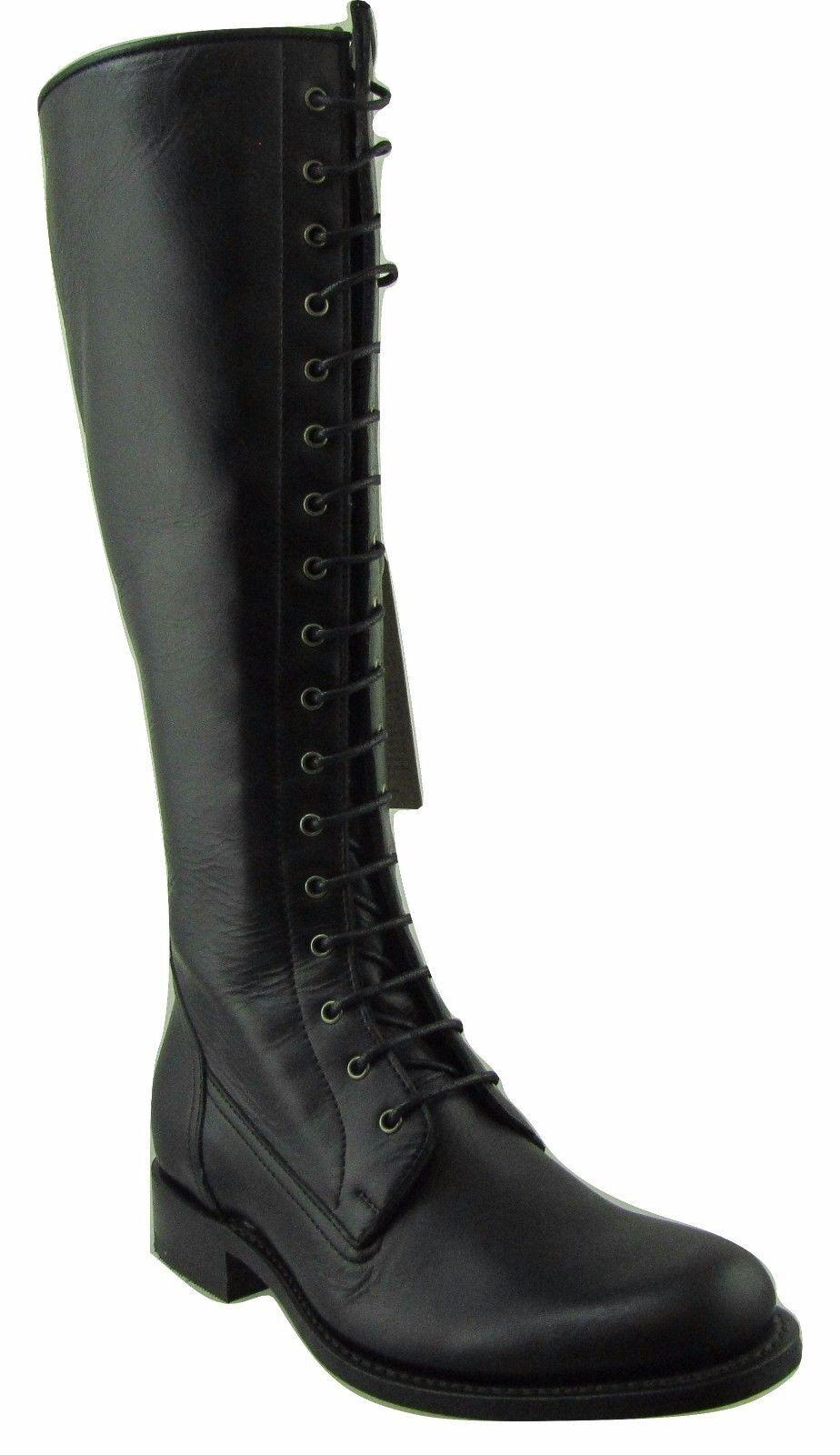 Sendra 7277 Cowboy Cowboy Cowboy Boots Black Leather Western Biker Handmade Ladies Lace Up bef9ca
