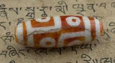 DZI - 6 YEUX- PERLE SACREE TIBETAIN HIMALAYAN BEADS Chine Tibet - 7422 -C64