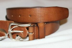Made In Italy Men's Cognac Genuine Leather Casual Belt Sizes 36/38/40 NWT